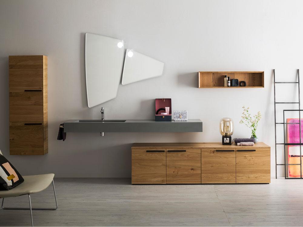 Mobili componibili per bagno nice idea mobili lavanderia leroy merlin mobile per lavatrice - Mobili in legno per bagno ...