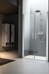 Dedalo il Box doccia a nicchia firmato con porte a battente di Arblu