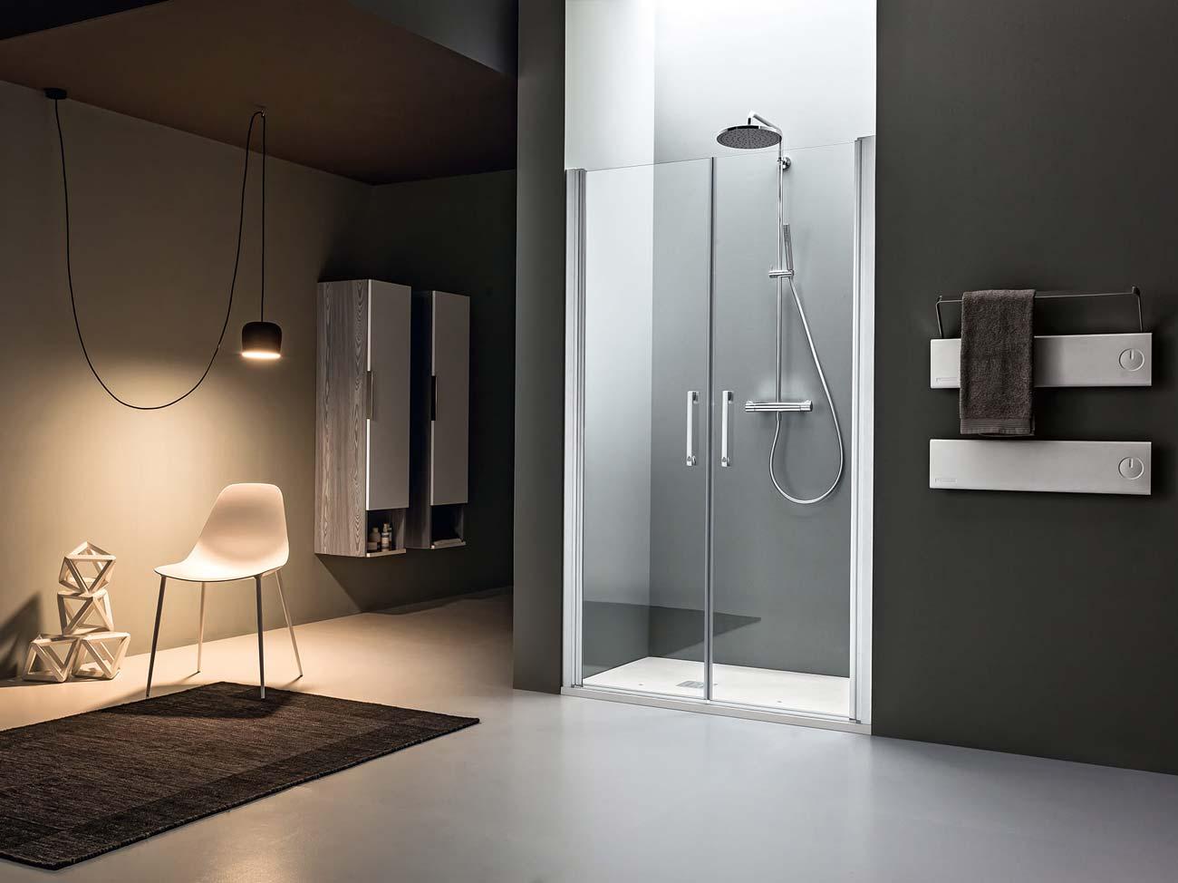 Box doccia e piatto doccia silvestri arredo bagno - Porte in vetro per bagno ...