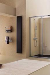 Mercurio di Arblu. Box doccia in alluminio e vetro con porte scorrevoli