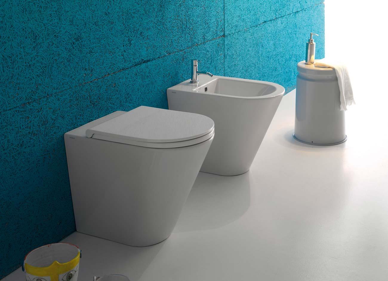 Sanitari bagno in ceramica sospesi o freestanding silvestri - Sanitari bagno globo ...