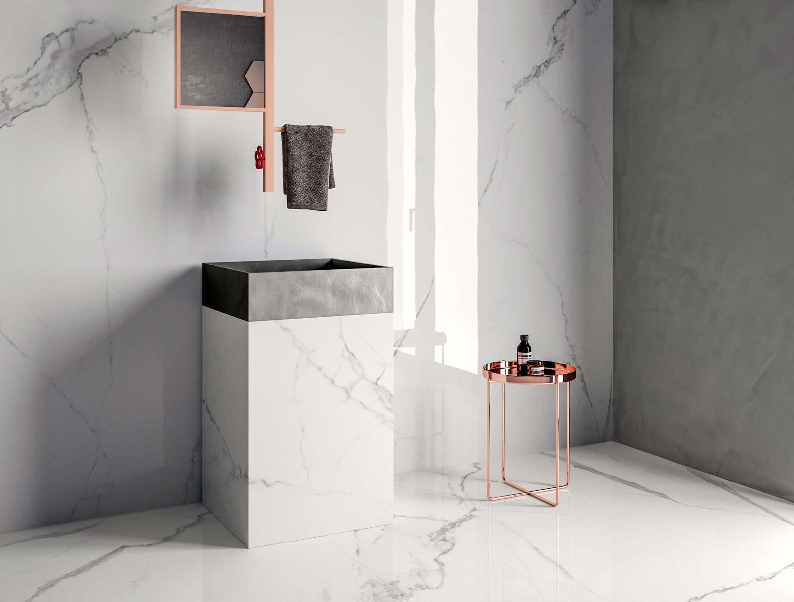 Pavimenti e rivestimenti in marmo o pietra silvestri a - Bagno di marmo ...