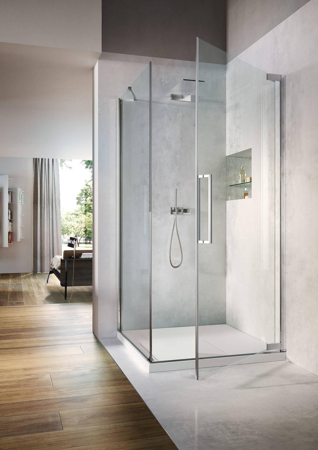 Box doccia e piatto doccia silvestri arredo bagno for Arredo bagno doccia
