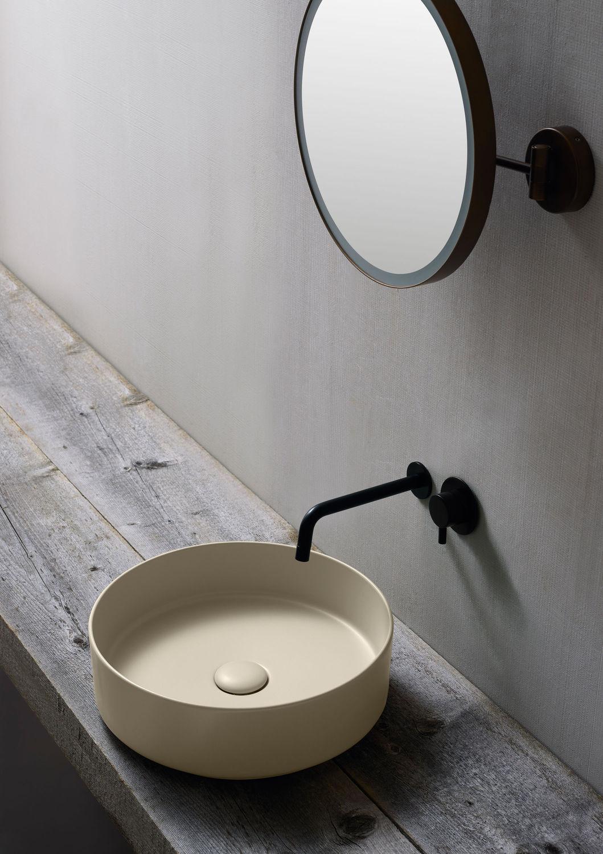 Ceramica Cielo Lavabo Shui.Lavabo Appoggio Tondo Shui Comfort Ceramica Cielo Silvestri