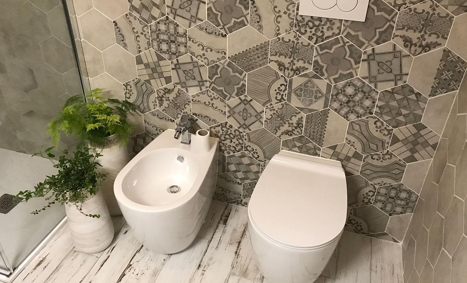 Mattonelle esagonali per bagno piastrelle gres per interni